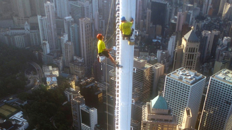 Roped access coating - Bank of China Tower, Hong Kong