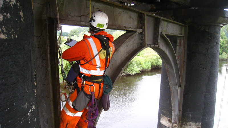 Rail bridge inspection - Earn Viaduct, UK